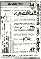 M'bro music collective Newsletter 1984