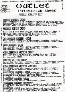 Outlet - Writers Groups 1989