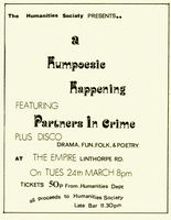 Humpoesic Happening -1981 Middlesbrough
